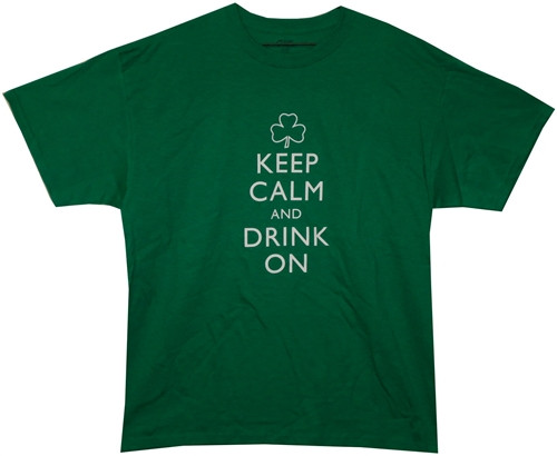 Image Closeup for Keep Calm and Drink On T-Shirt