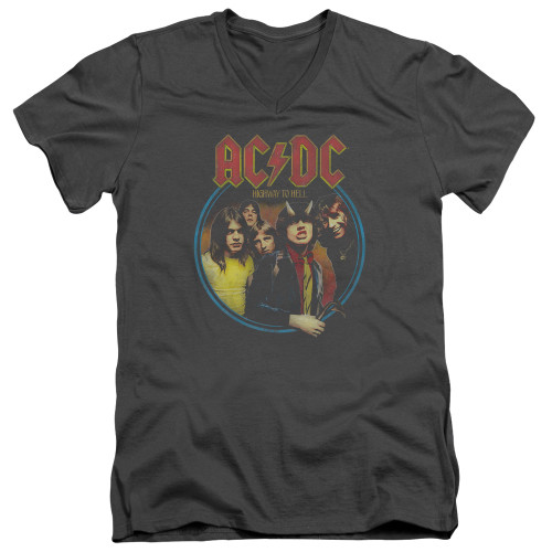 Image for AC/DC V Neck T-Shirt - Highway to Hell