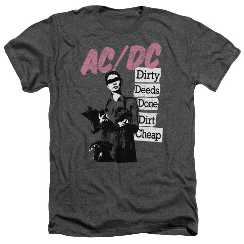 Image for AC/DC Heather T-Shirt - Dirty Deeds