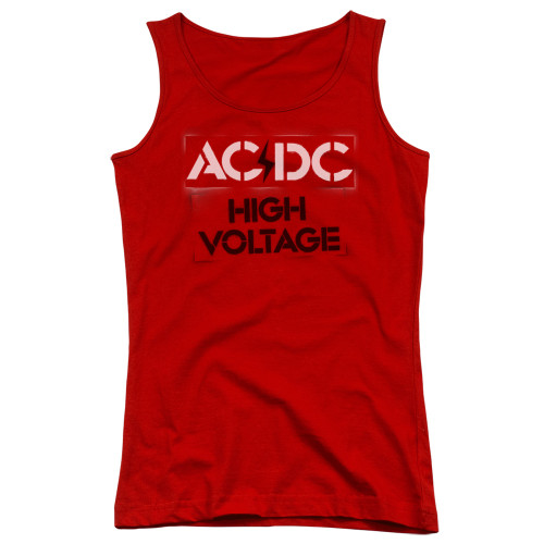 Image for AC/DC Girls Tank Top - High Voltage Stencil