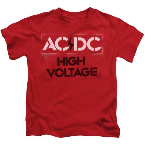 Image for AC/DC Kids T-Shirt - High Voltage Stencil