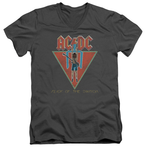 Image for AC/DC V Neck T-Shirt - Flick of the Switch
