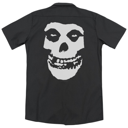 Image for The Misfits Dickies Work Shirt - Fiend Skull