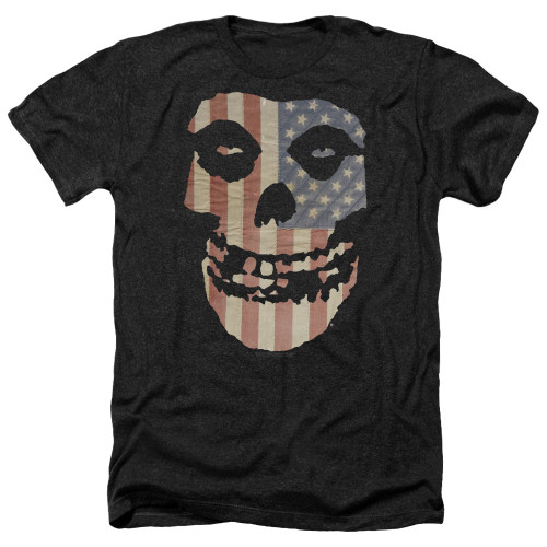Image for The Misfits Heather T-Shirt - Fiend Flag