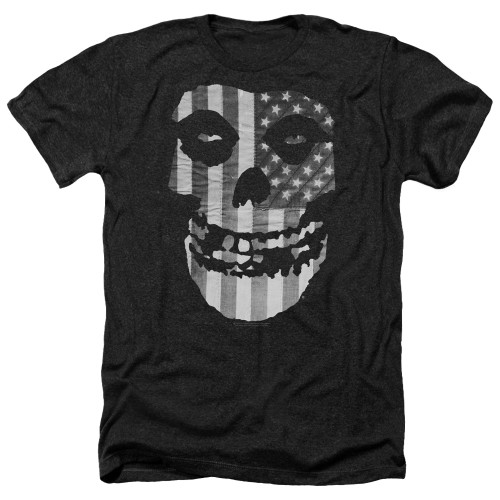 Image for The Misfits Heather T-Shirt - Fiend Flag Monochrome