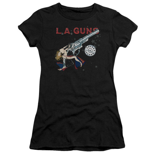 Image for LA Guns Girls T-Shirt - Cocked and Loaded