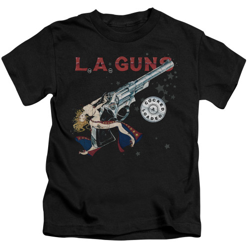 Image for LA Guns Kids T-Shirt - Cocked and Loaded