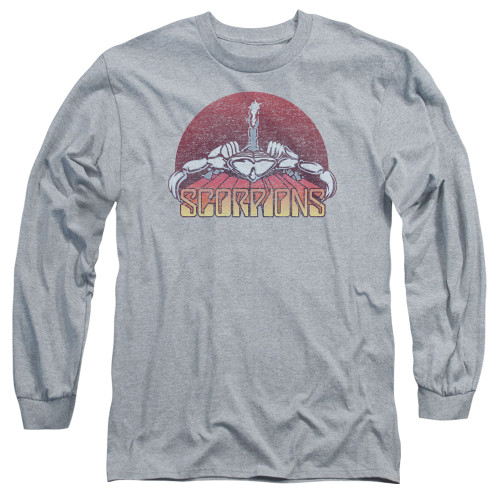 Image for Scorpions Long Sleeve Shirt - Color Logo Distressed