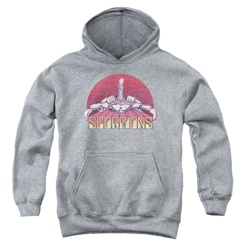 Image for Scorpions Youth Hoodie - Color Logo Distressed