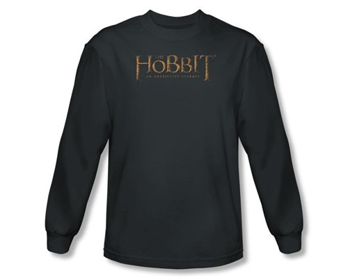 Image Closeup for The Hobbit Distressed Logo long sleeve T-Shirt