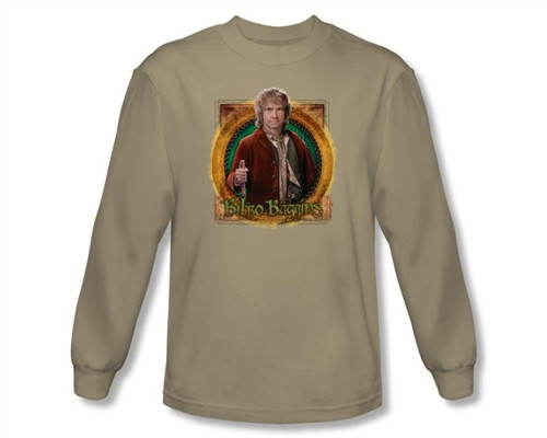 Image Closeup for The Hobbit Mr. Baggins long sleeve T-Shirt