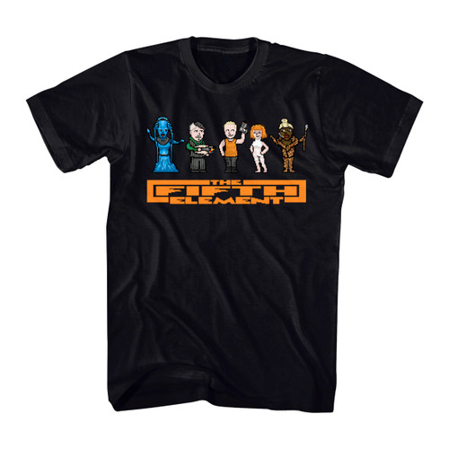 Image for The Fifth Element 8 Bit Cast T-Shirt