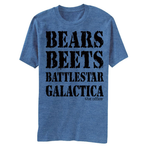 Image for The Office Bears Beets BSG T-Shirt
