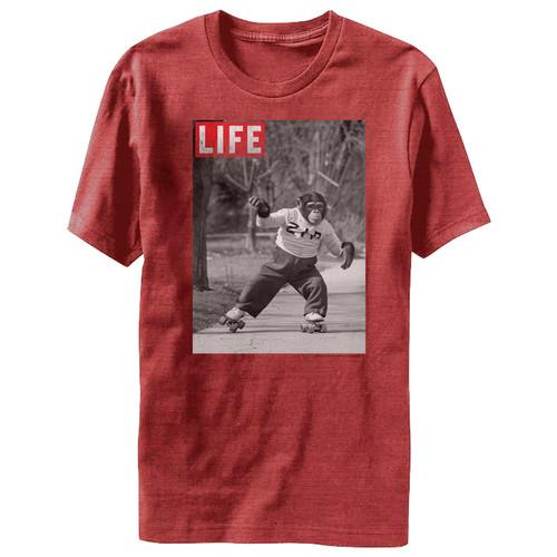 Image for Life Magazine Zip Skate Heather T-Shirt