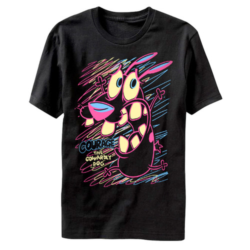 Image for Courage the Cowardly Dog Bright Linework T-Shirt