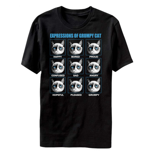 Image for Grumpy Cat The Many Expressions of Grumpy Cat T-Shirt