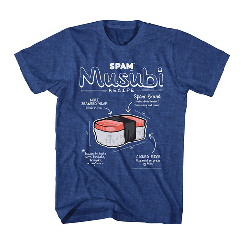 Image for Spam Musubi Diagram Heather T-Shirt