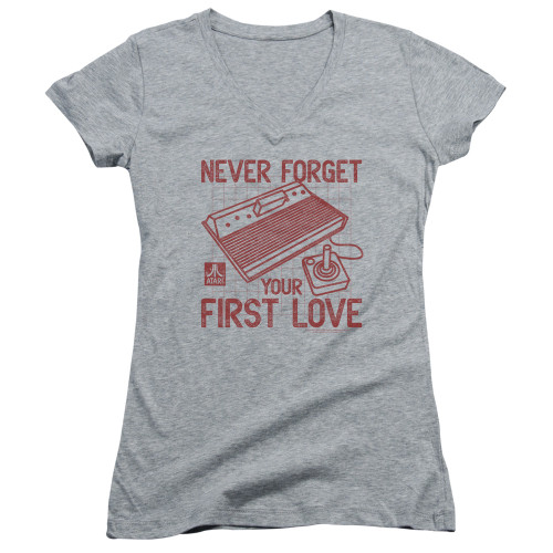 Image for Atari Girls V Neck T-Shirt - Never Forget Your First Love