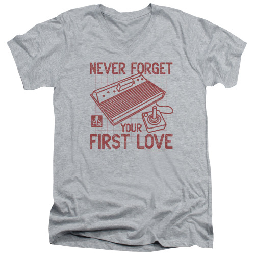 Image for Atari V-Neck T-Shirt - Never Forget Your First Love