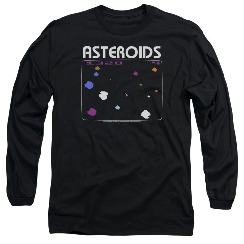 Image for Atari Long Sleeve T-Shirt - Asteroids Screen