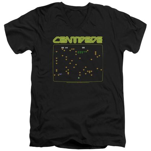 Image for Atari V-Neck T-Shirt - Centipede Screen