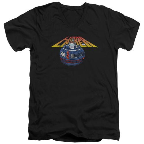 Image for Atari V-Neck T-Shirt - Lunar Lander Globe