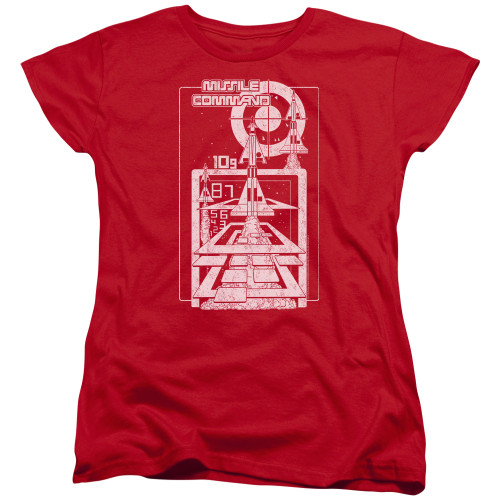 Image for Atari Woman's T-Shirt - Missile Command Lift Off