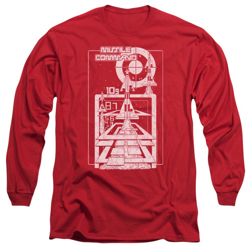 Image for Atari Long Sleeve T-Shirt - Missile Command Lift Off