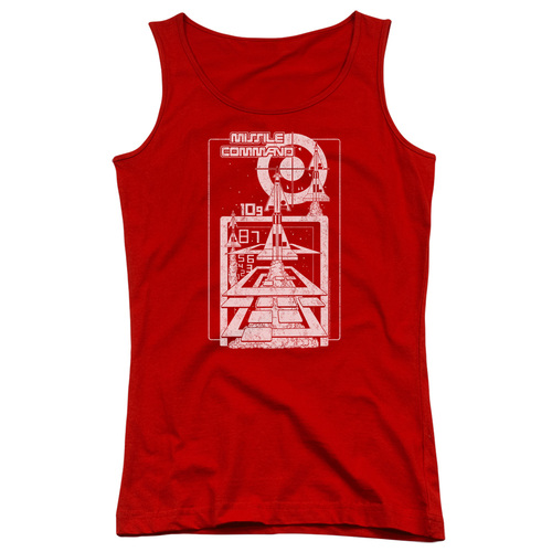 Image for Atari Girls Tank Top - Missile Command Lift Offs