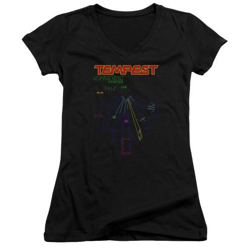 Image for Atari Girls V Neck T-Shirt - Tempest Screen
