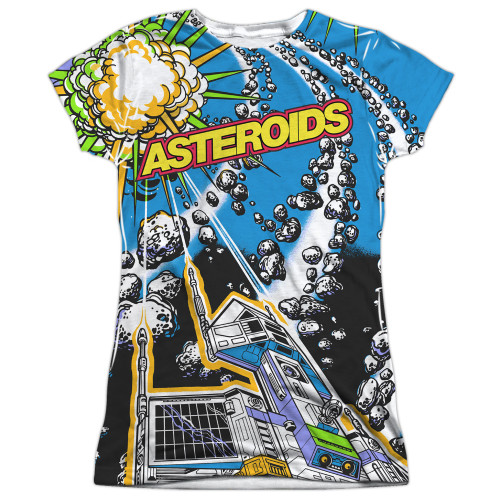 Image for Atari Girls Sublimated T-Shirt - Asteroids All Over 100% Polyester