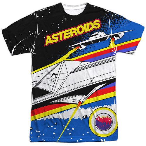 Image for Atari Sublimated T-Shirt - Asteroids Arcade 100% Polyester