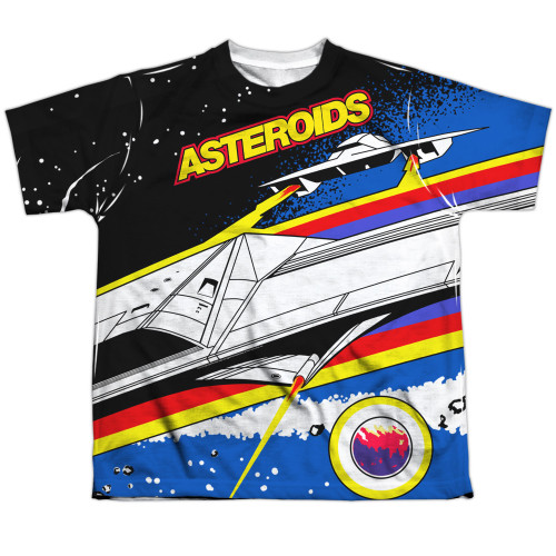Image for Atari Sublimated Youth T-Shirt - Asteroids Arcade 100% Polyester