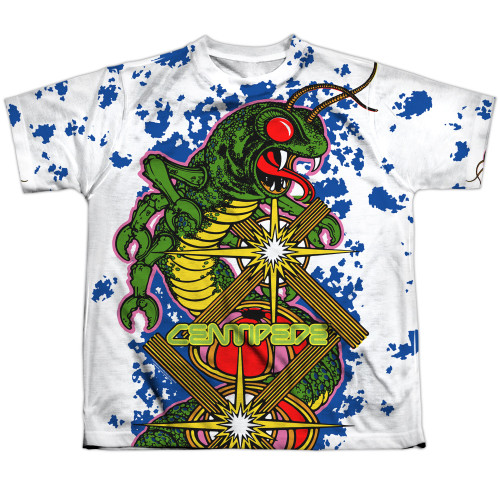 Image for Atari Sublimated Youth T-Shirt - Centipede Insect Attack 100% Polyester