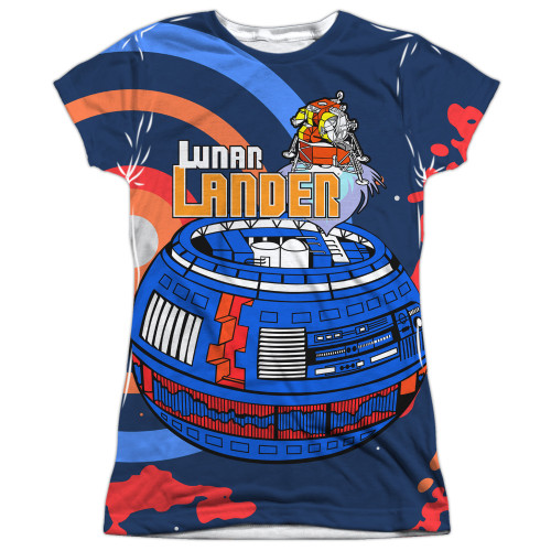 Image for Atari Girls Sublimated T-Shirt - Lunar Landing 100% Polyester