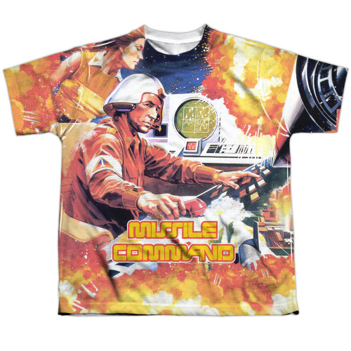 Image for Atari Sublimated Youth T-Shirt - Missile Command 100% Polyester