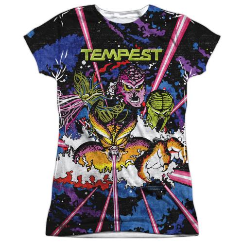 Image for Atari Girls Sublimated T-Shirt - Tempest Key Art 100% Polyester