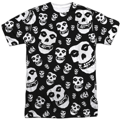Image for The Misfits Sublimated T-Shirt - Fiends All Over 100% Polyester