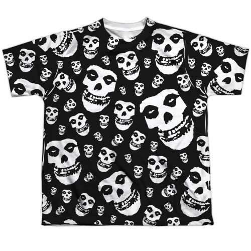 Image for The Misfits Sublimated Youth T-Shirt - Fiends All Over 100% Polyester