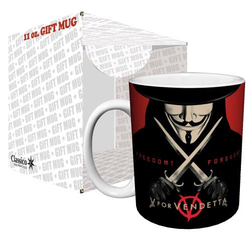 Image for V for Vendetta Freedom Forever Coffee Mug