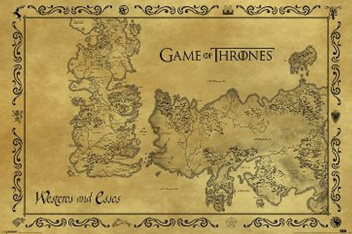 Image for Game of Thrones Poster - the Map