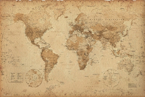 Image for Antique World Map Poster