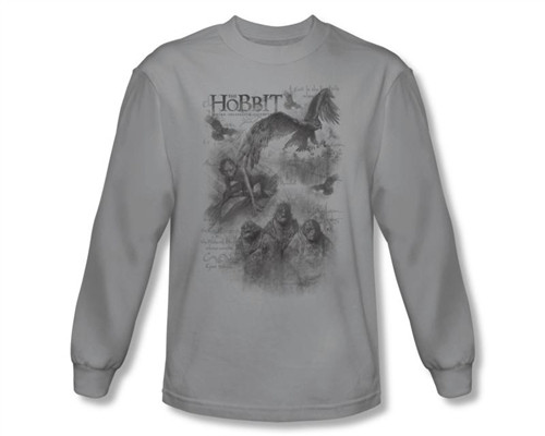 Image Closeup for The Hobbit Sketches long sleeve T-Shirt