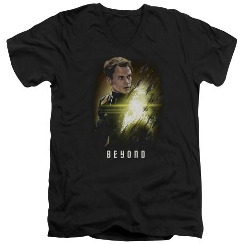 Image for Star Trek Beyond V Neck T-Shirt - Checkov Poster