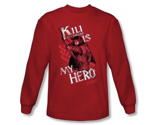 Image Closeup for The Hobbit Kili is My Hero long sleeve T-Shirt