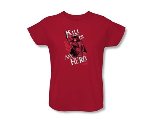 Image Closeup for The Hobbit Womens T-Shirt - Kili is My Hero