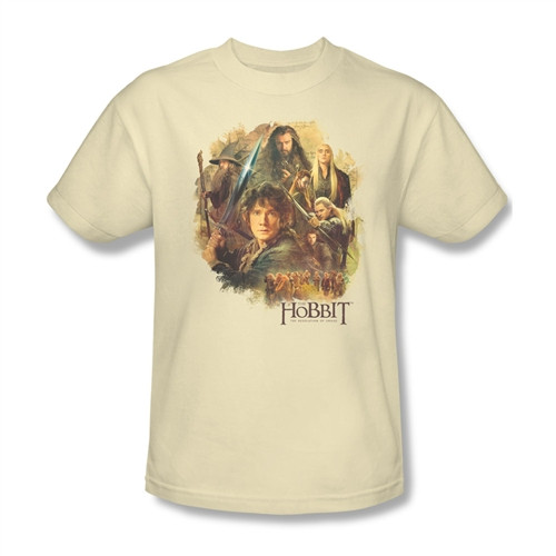 Image Closeup for The Hobbit Desolation of Smaug Collage T-Shirt
