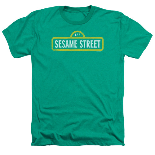 Image for Sesame Street Heather T-Shirt - Rough Logo
