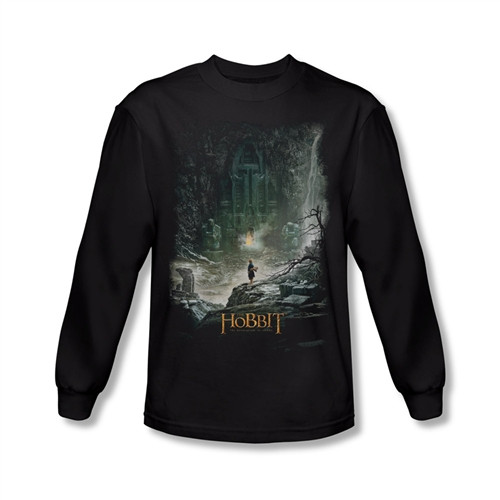 Image for The Hobbit Desolation of Smaug at Smaug's Door long sleeve T-Shirt