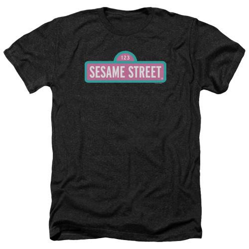 Image for Sesame Street Heather T-Shirt - Alt Logo